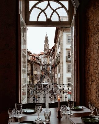 view from a Porto restaurant - GROUP TRAVEL   10 things To Expect From An Intrepid Travel Tour