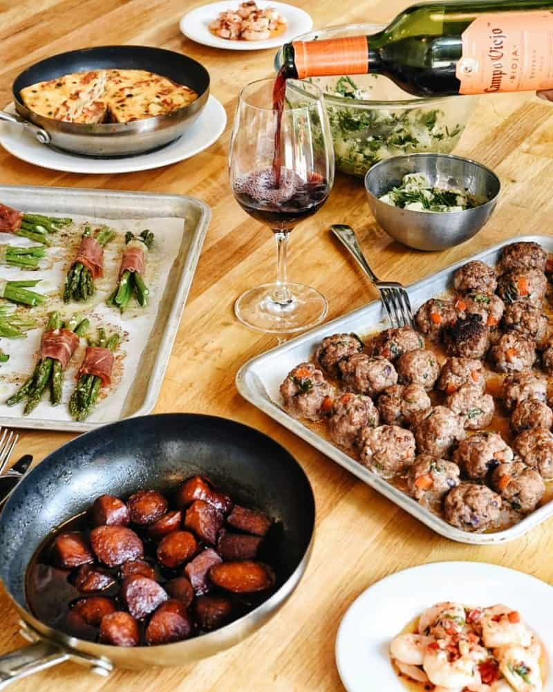 tapas spread - Is this London's most fun cooking class?