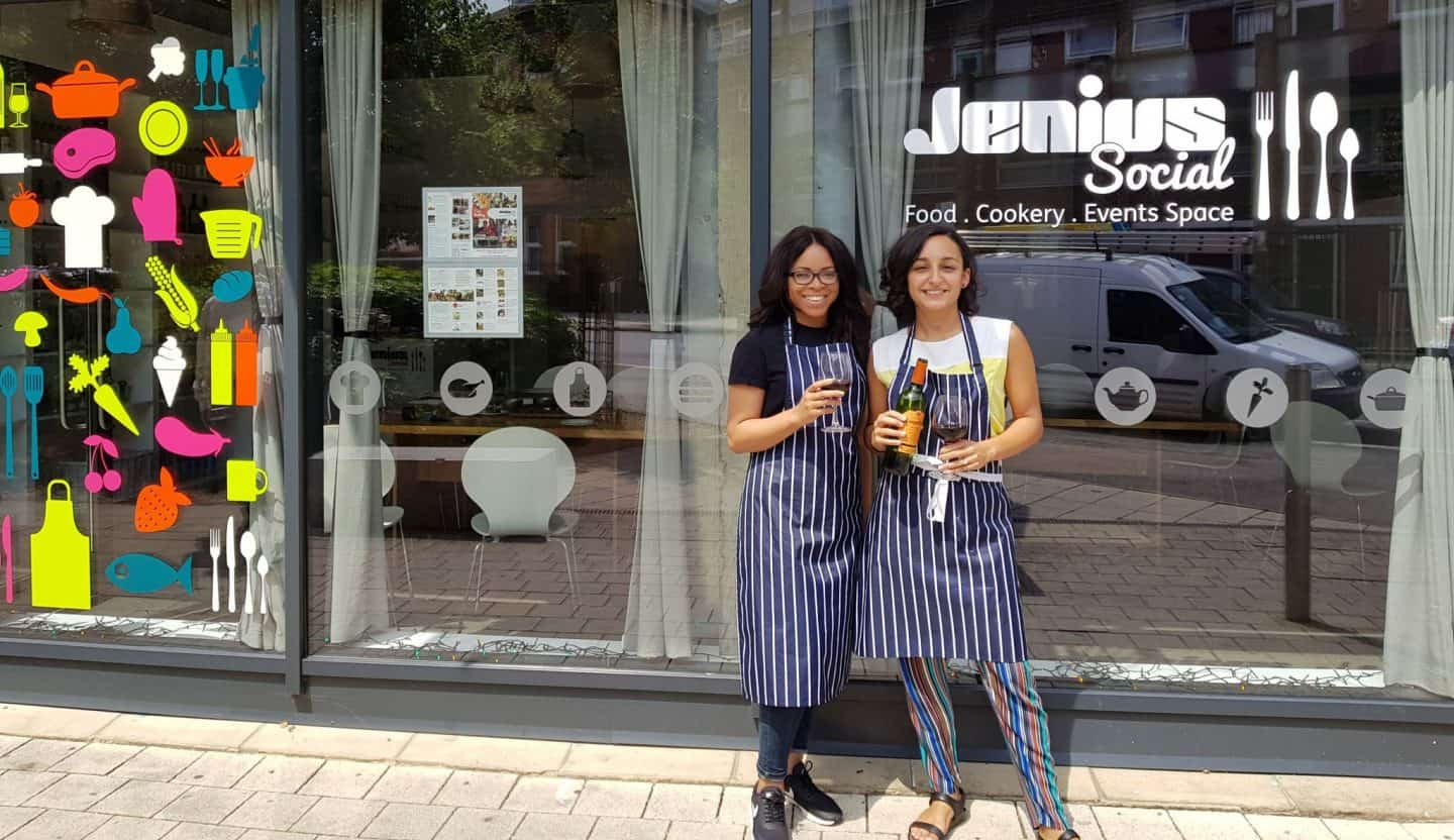 Me and my friend Bisi - Is this London's most fun cooking class?