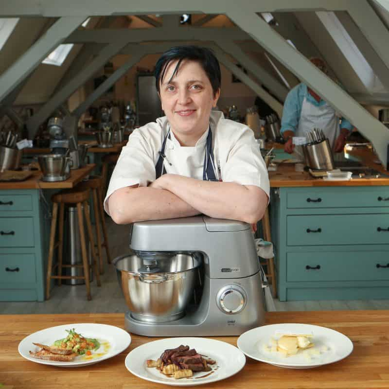 Cooking Le Gavroche restaurant recipes with the Kenwood Chef at London Restaurant Festival