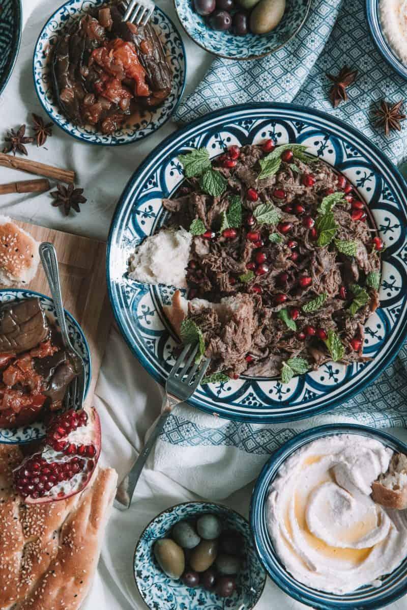 BRAISED LAMB RECIPE | Pomegranate Slow Cooked Lamb Shoulder