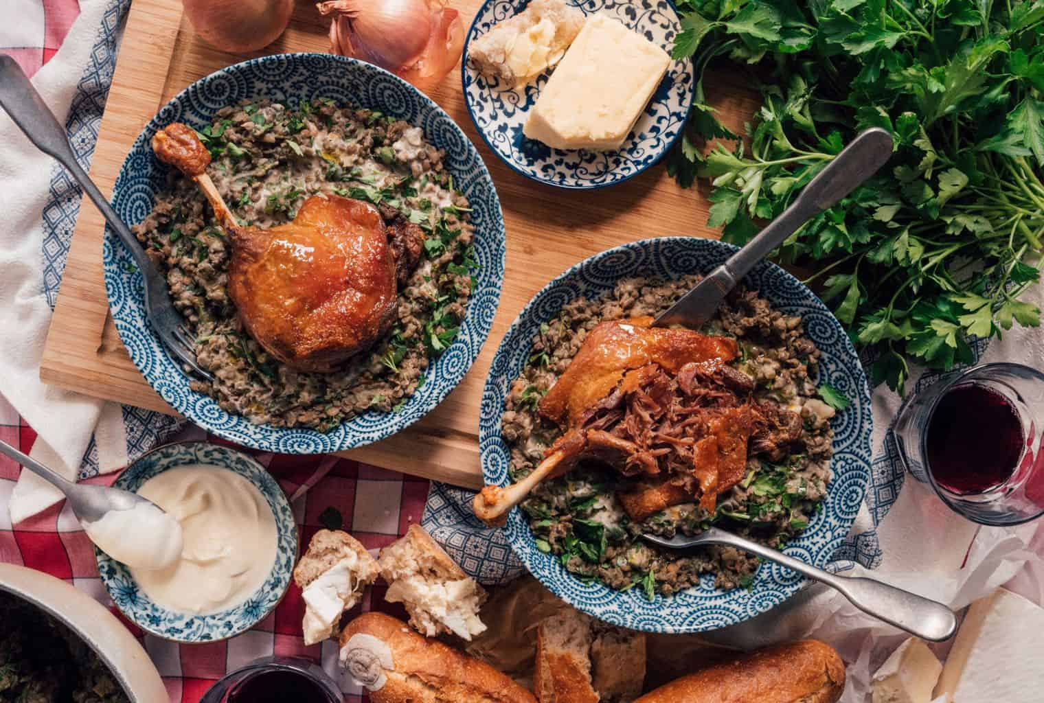 Confit Duck With The World's Greatest Lentil Recipe
