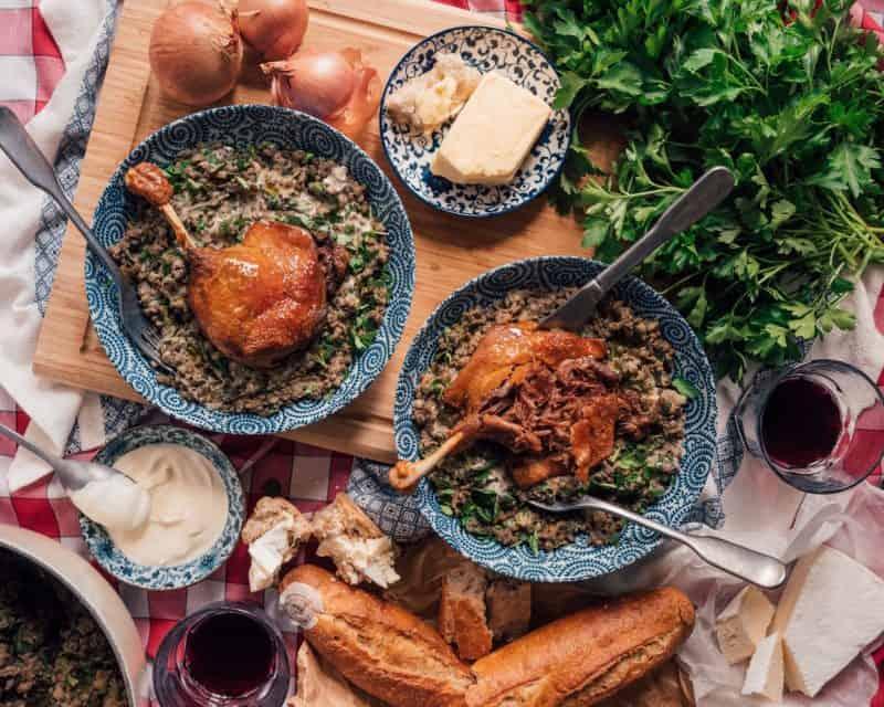 Confit Duck With The Best Ever Lentil Recipe, cook lentils, green lentils