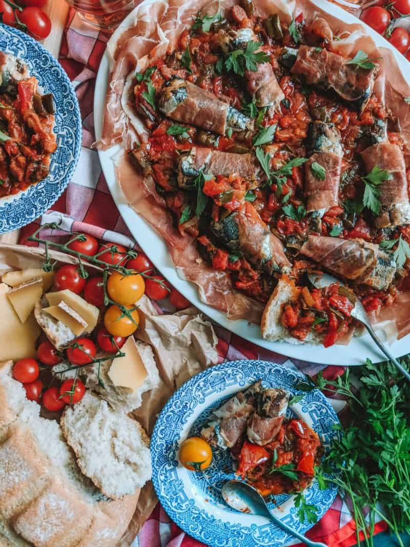 French Cooking: The Best Summer Tomato Recipe Is Basque Piperade, French recipe, sardines