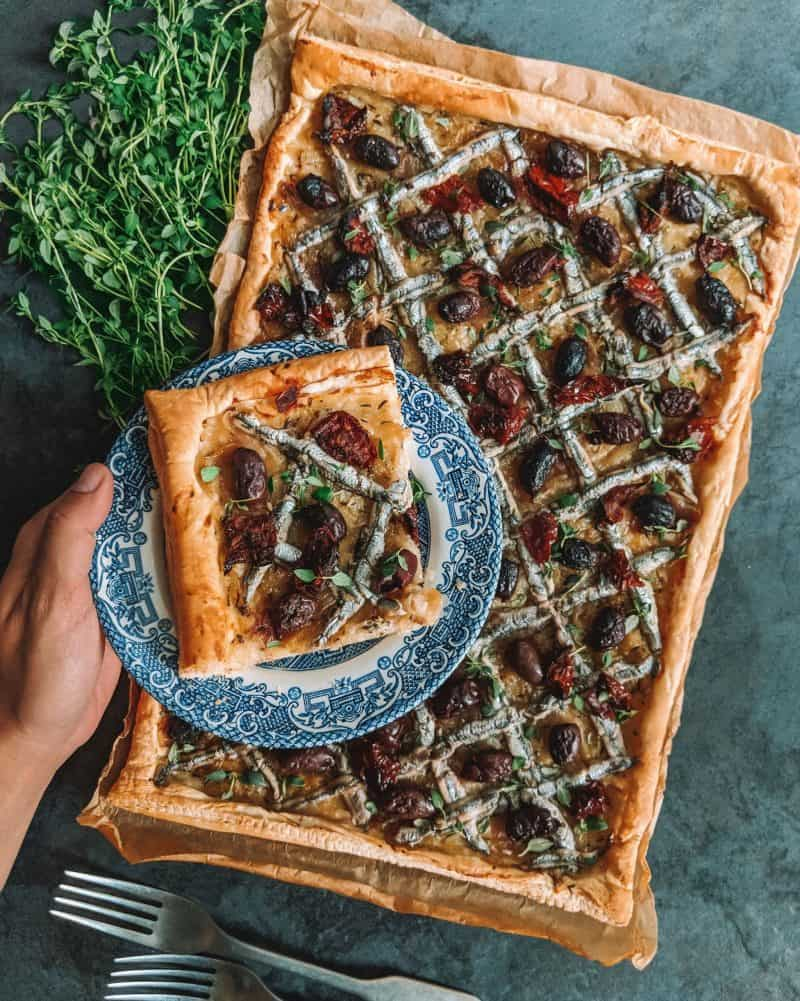 Pissaladiere | The Easiest French Tart Recipe, easy tart recipe, French onion tart