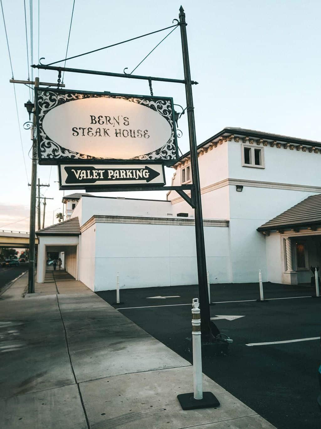Bern's Steak House Sign SoHo Tampa restaurants