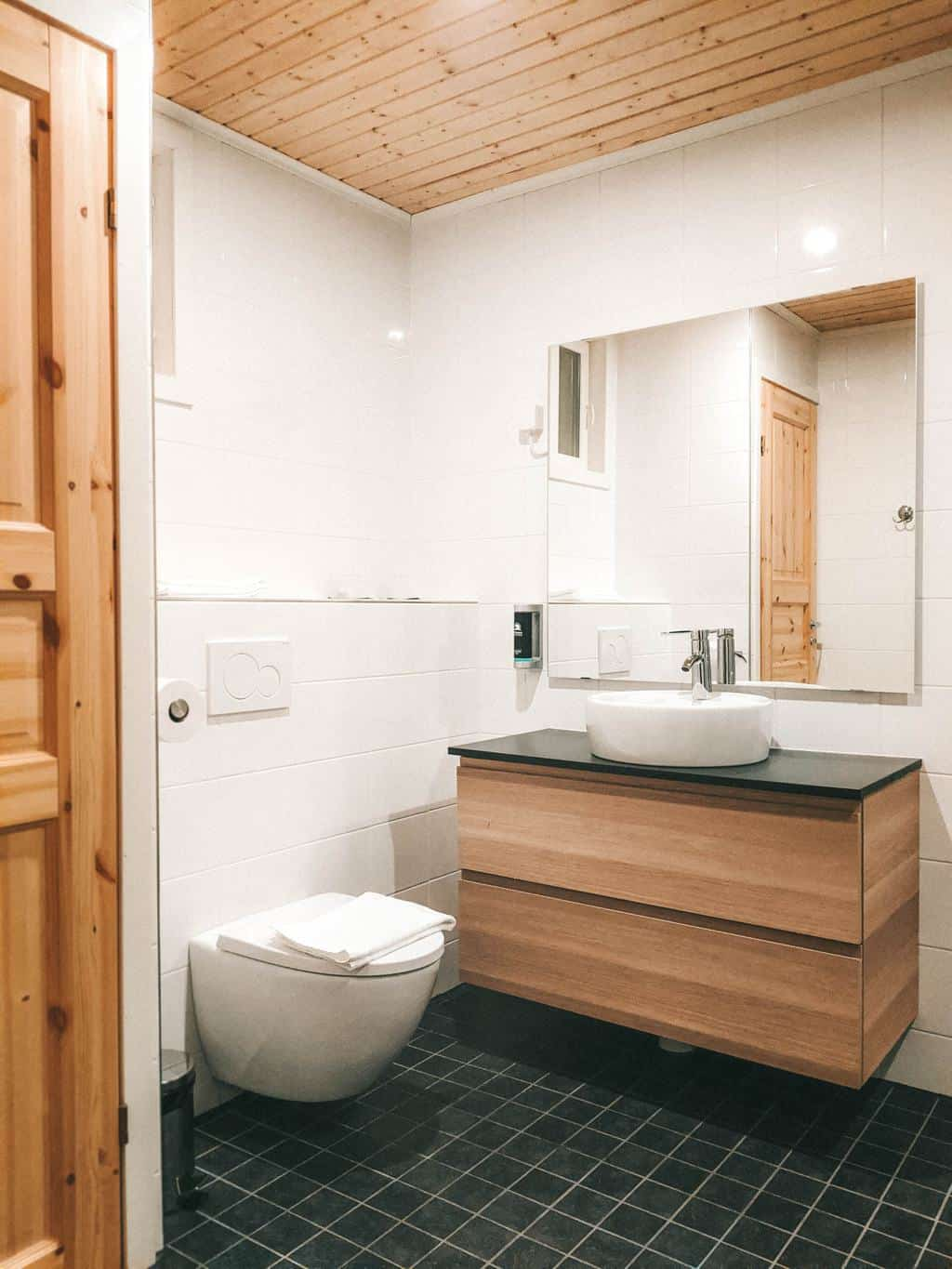 a stylish bathroom Finnish Lapland, Lapland destinations, Lapland Finland, Inghams