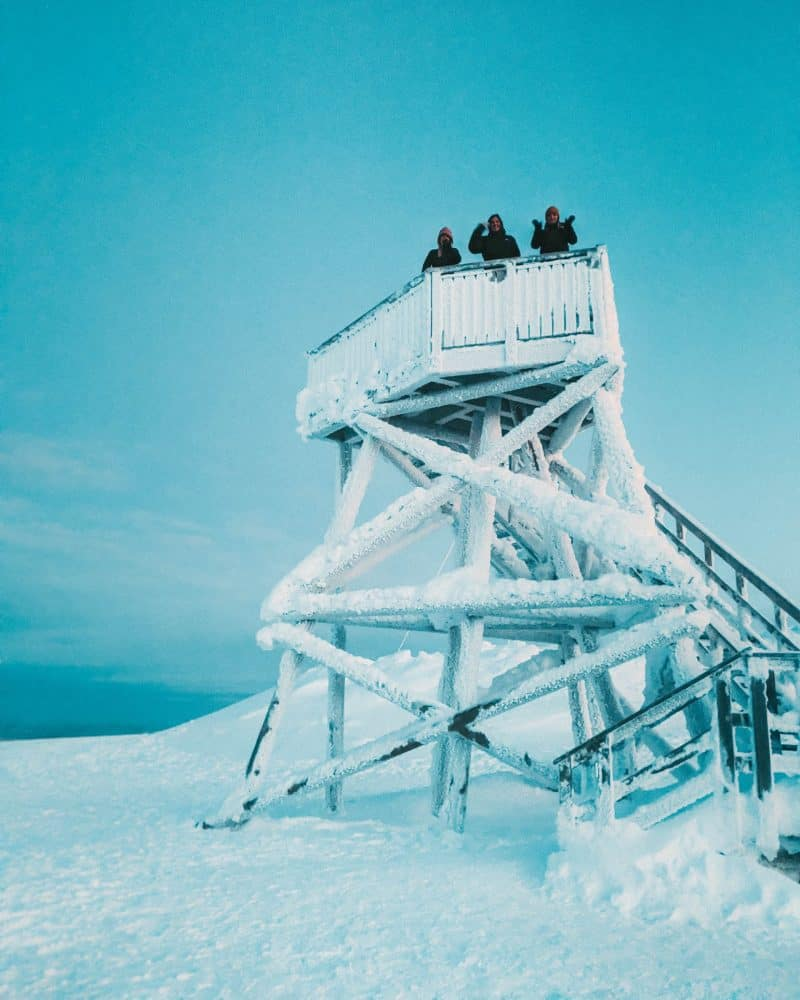 Snow covered lookout point Finnish Lapland, Lapland destinations, Lapland Finland