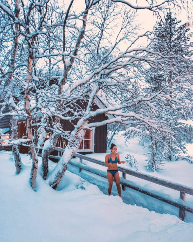 Standing out in the snow in a bikini after a sauna Finnish Lapland, Lapland destinations, Lapland Finland, Inghams