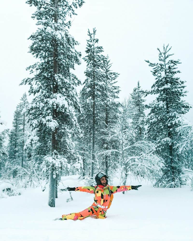 Standing on one leg in deep snow Finnish Lapland, Lapland destinations, Lapland Finland, Inghams